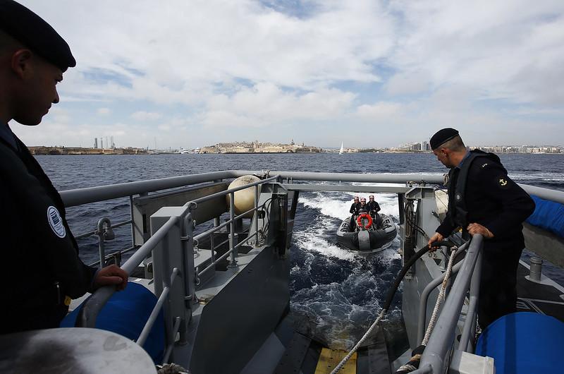 Frontex Schiff vor Malta